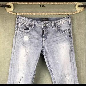 Women's SILVER Jeans Sam Boy friend 29 x 28